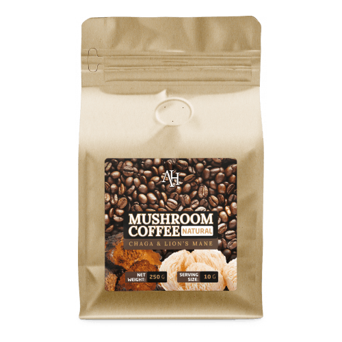 Apollo's Hegemony Mushroom Coffee - a blend of Coffee and vital mushrooms extracts - Lion's Mane and Chaga